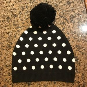 BCBG Max Azria Black Polka Dot Hat